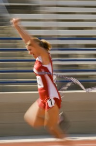Blurred-motion-of-woman-running
